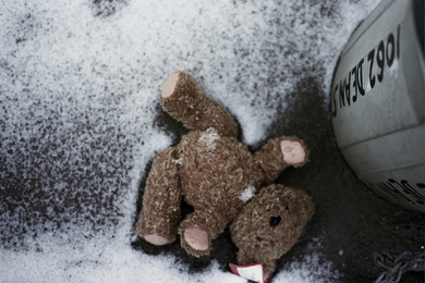 Discarded-teddy-bear