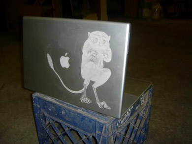 Laser-etched