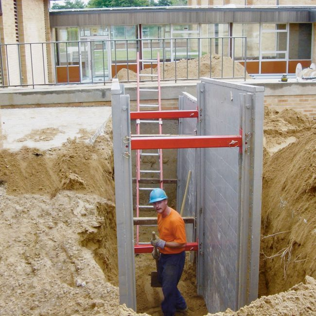 Aluminum Shoring Systems : Aluminum trench shields boxes pro tec equipment