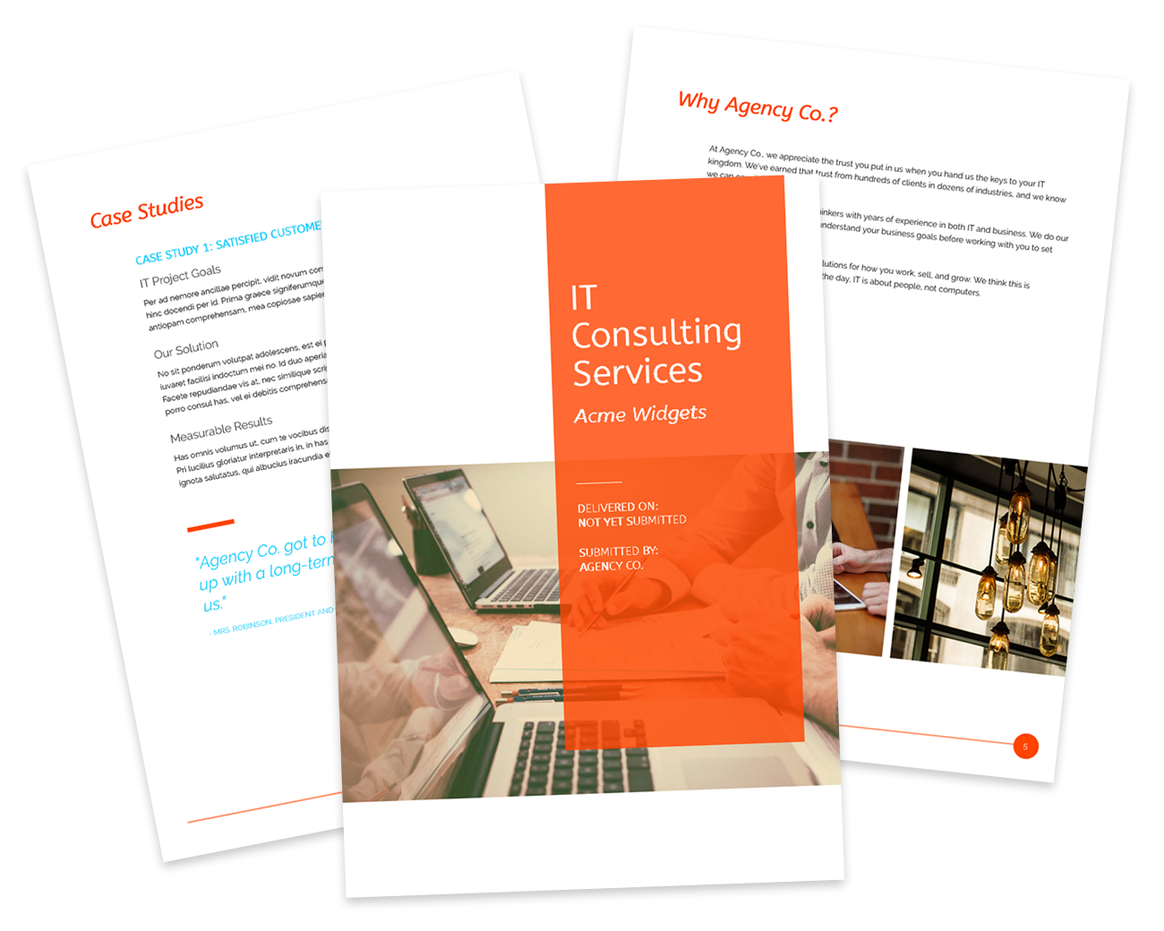 IT Consulting Template Preview