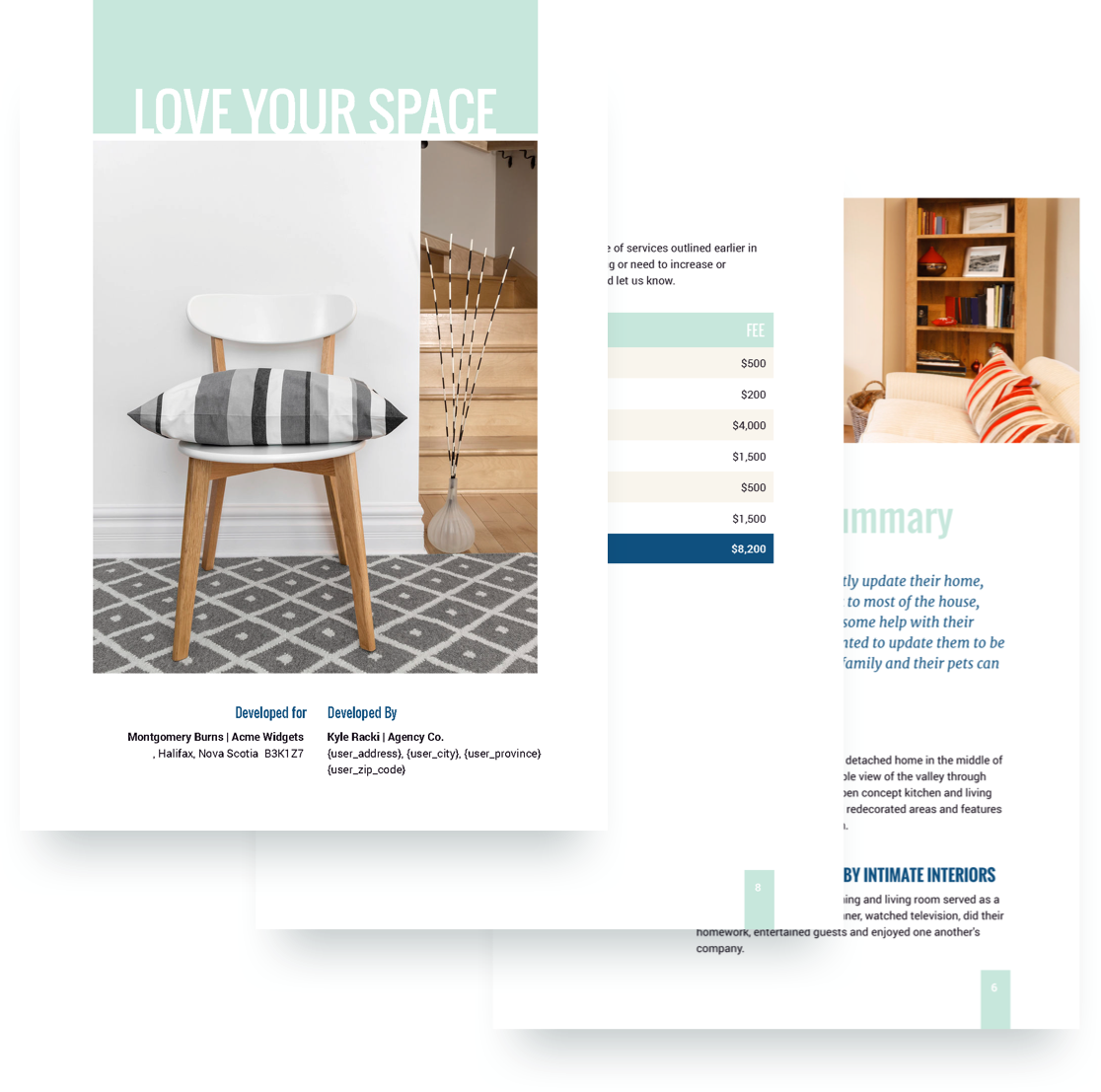 Interior Design Proposal Template Get Free Sample Oukasfo
