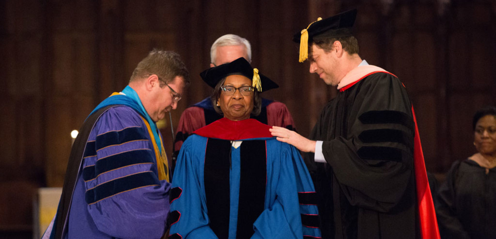 Header Ph D Hooding At Commencement 2017