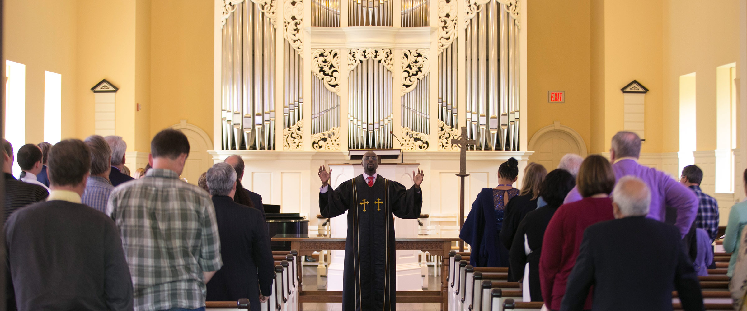 Home Page Photo - Miller Chapel Service