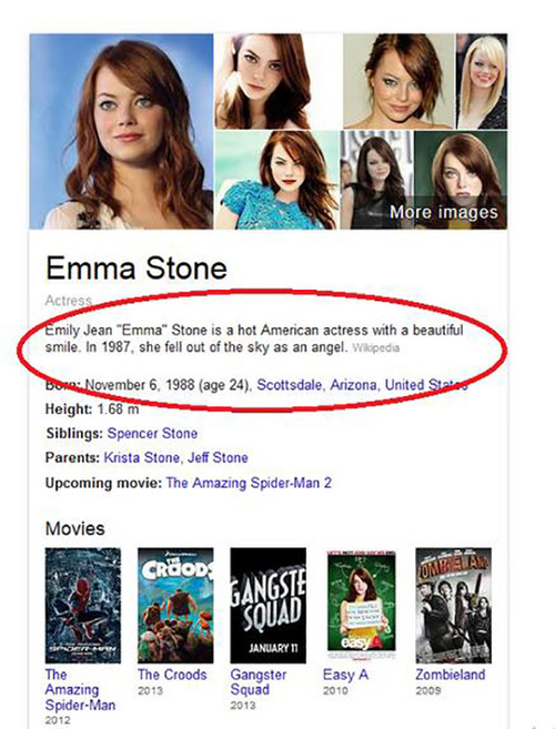 Emma Stone's Heavenly Bio