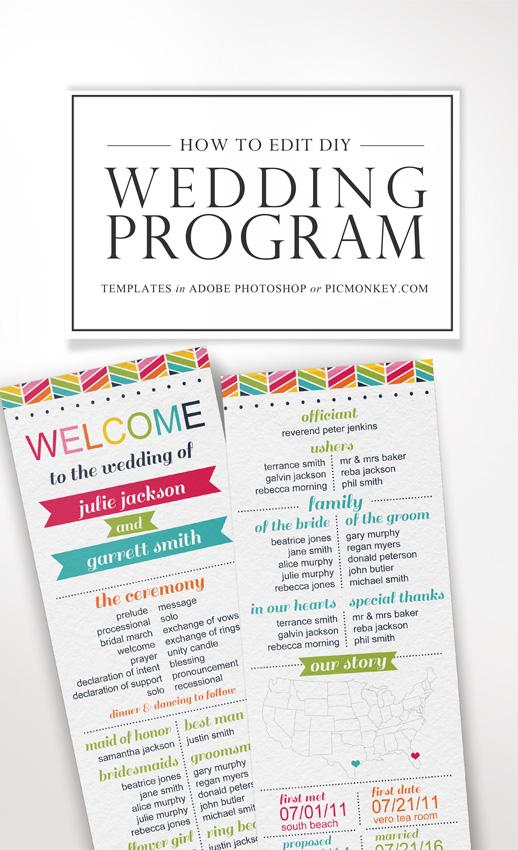 DIY Printable Wedding Programs