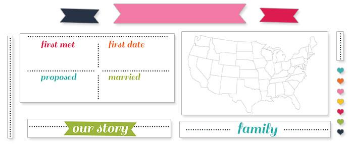 printable wedding program template elements