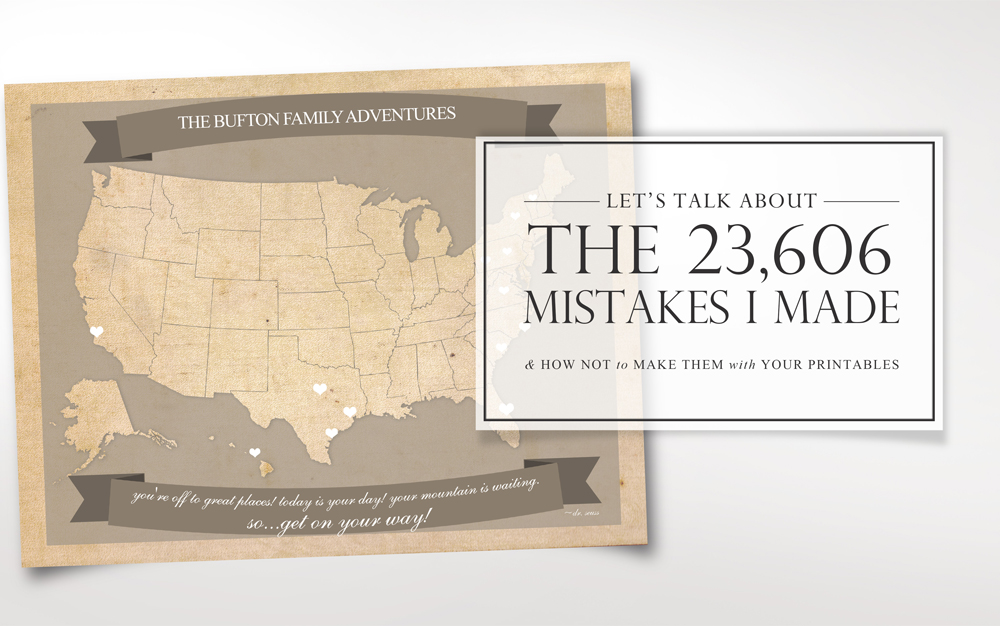 Don't make the same mistakes I did when learning how to make printables for your blog