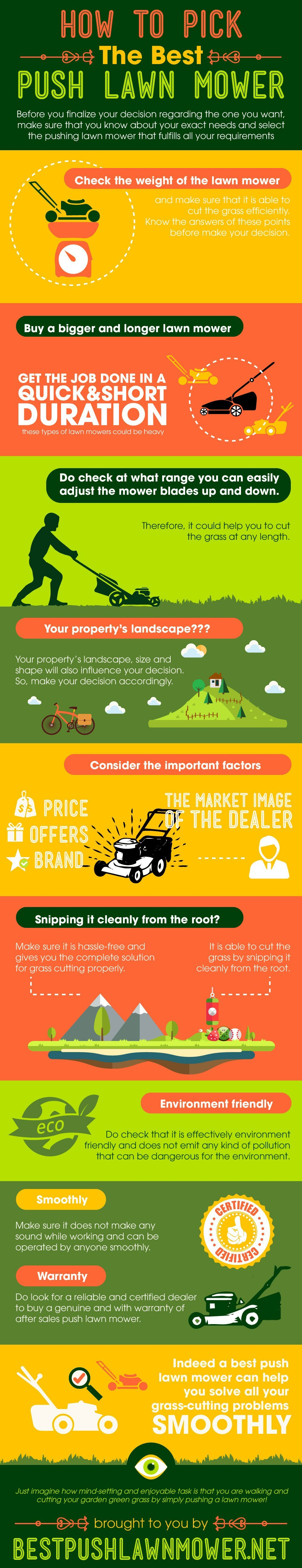 best push lawn mower infographic