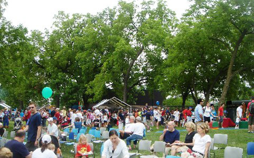 VillageFest brings thousands to the Prairie Village municipal grounds each Fourth of July.