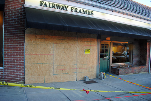 Fairway Frame Shop Cleaning Up After Driver Smashes