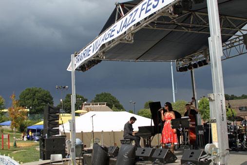Prairie Village Jazz Festival storm 2011