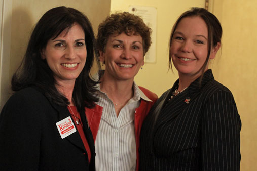 From left, Melissa Rooker, Barbara Bollier and Stephanie Clayton on Election Night November 2012.