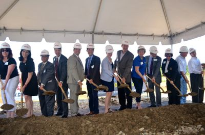 The ceremonial groundbreaking of the stalled Mission Gateway project  was in August 2013.