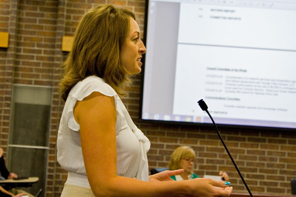 "Google Fiber Community Manager Rachel Hack faced some ""disappointed"" members of the Prairie Village City Council Monday."