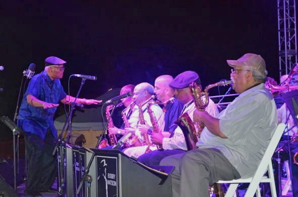 Bobby Watson directs his All-Star Big Band.