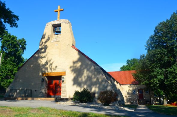 The St. Rose Philippine Catholic Church on Rainbow Blvd. and its controversial bell.
