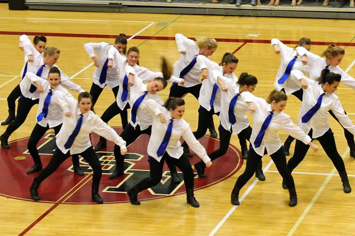 The Lancer Dancers junior varsity squad performing their Hip Hop routine at the Miss Kansas competition in Olathe. The junior varsity team will perform its Hip Hop routine at halftime of the junior varsity basketball game Friday. The varsity Lancer Dancers will perform their routine at halftime of the varsity game.
