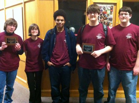 SM North students Walter Wright, Britanny Ferm, Darius Reasco, Brennan Colahan and Chris Colahan.