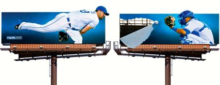These two billboards in 2013 were actually separated by I-35.