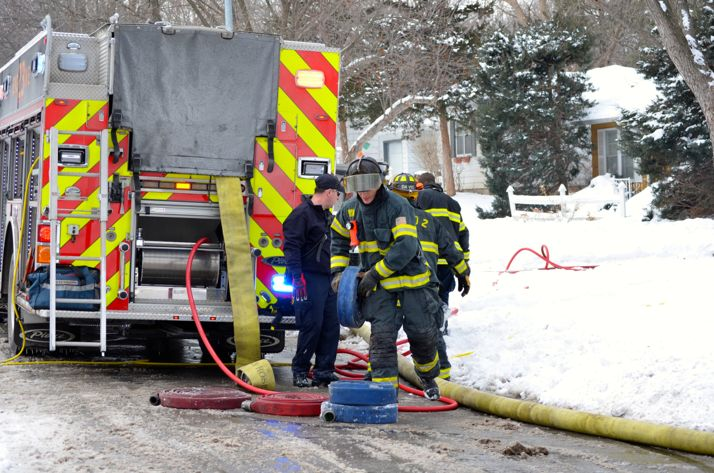 Firefighters had to battle freezing temperatures to put out a house fire in Prairie Village.