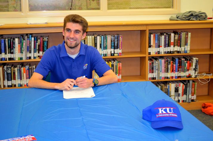 Ben Burchstead signed his letter committing to KU Thursday.