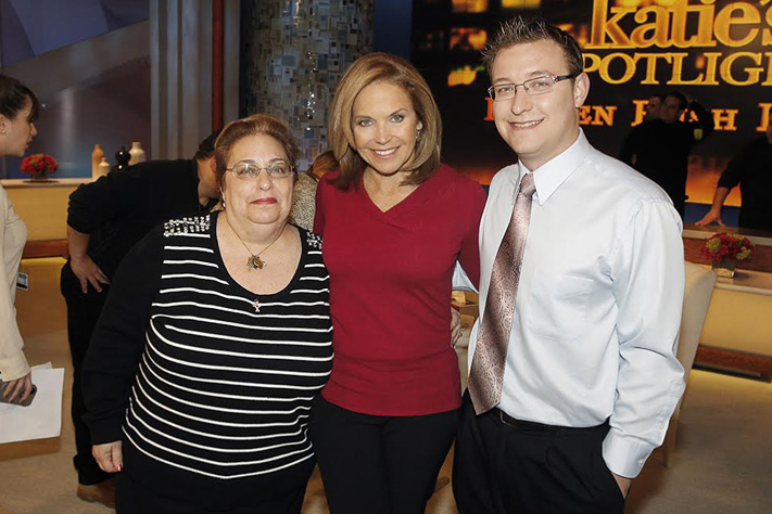 From left, Peggy Miller, Katie Couric and Bret Miller.