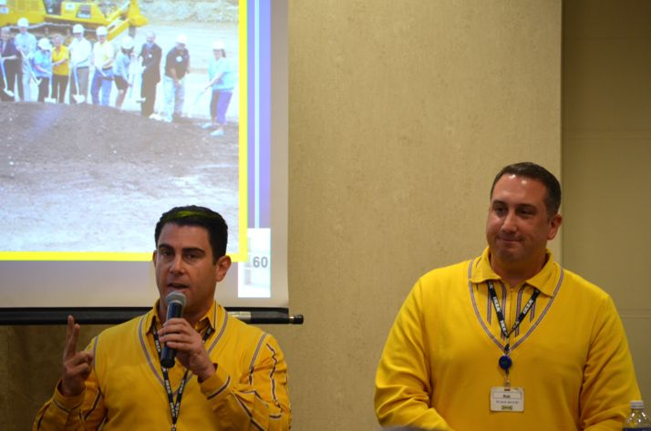Joseph Roth and Rob Parsons filled the crowd in on IKEA's plans at a Northeast Johnson County Chamber lunch Thursday.