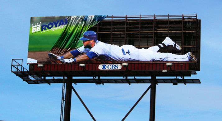 The 2014 Royals billboard on I-35.