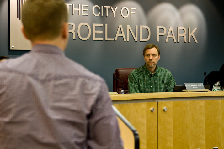 Mayor Joel Marquardt and the city council listened as around 10 speakers lobbied in support of the ordinance.
