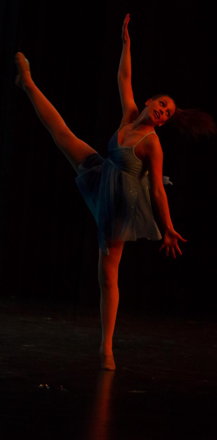 Senior Kaitlin Stewart performing her senior solo.