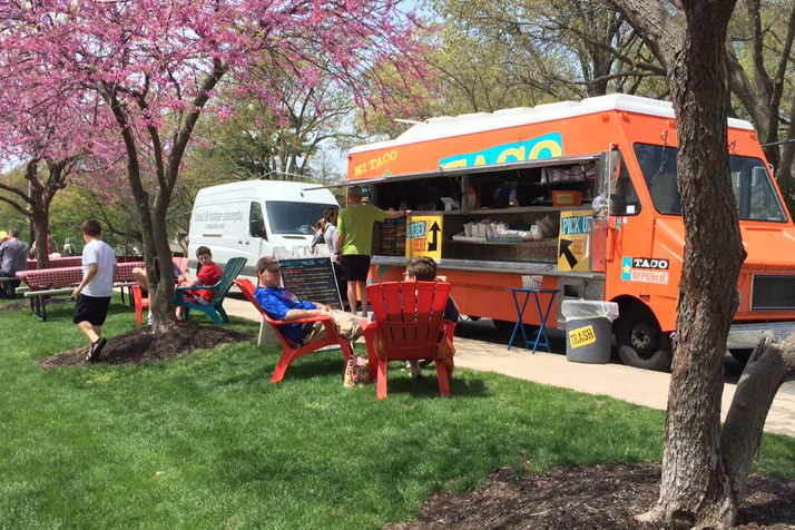 The food trucks outside were a popular spot Saturday with the perfect spring weather. All photos courtesy The Art Event at KCC.