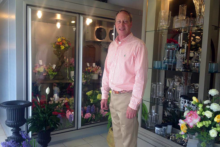 Gregory Banken in his new store at 89th and Roe in Prairie Village.