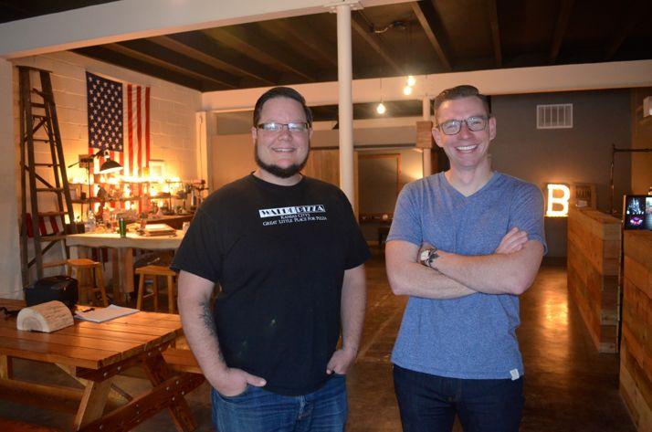 Jason Domingues and Rusty Wright at Bonfire.