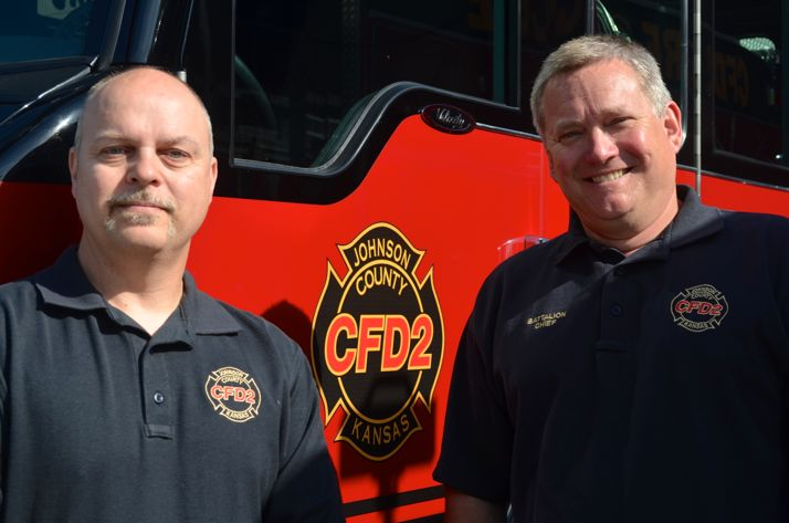 Firefighters Angus Duff and Jeff Scott.
