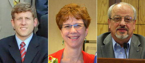 Candidates (from left) Alex DiCarlo, Laura McConwell and Ron Shaffer.