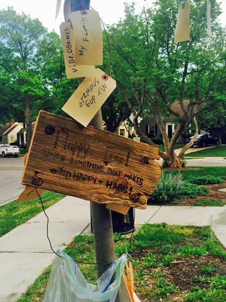 "The ""Happy Tree"" in Prairie Village. Photo via trenklehome.com."