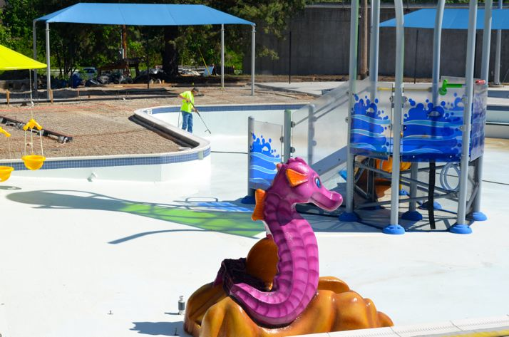 The pool for the younger swimmers will have plenty of new attractions.