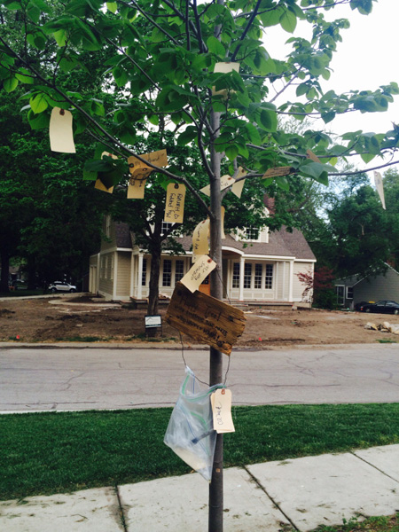 The Happy Tree in Prairie Village. Photo via TrenkleHome.com.