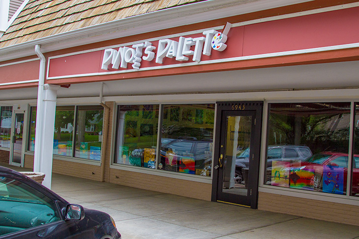 Pinot's Palette is in the space at the Village Shops most recently occupied by Mady & Me.