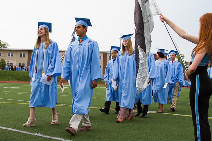 SM East's class of 2014 entered the field Wednesday for graduation.