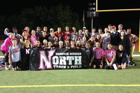 SM North is sending 26 athletes to the state 6A track meet. Photo courtesy Goldia Kiteck