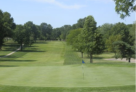 "Topeka Country Club bills its 438 yard, par four ninth hole as ""one of the most difficult in the state."" Photo via Topeka Country Club."