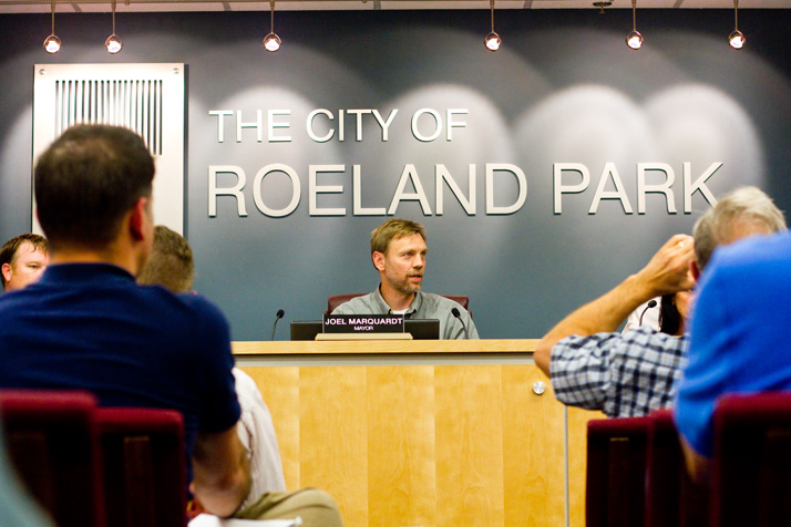 Roeland Park mayor Joel Marquardt and the city council dug deep into the details of the city's proposed anti-discrimination ordinance Tuesday.