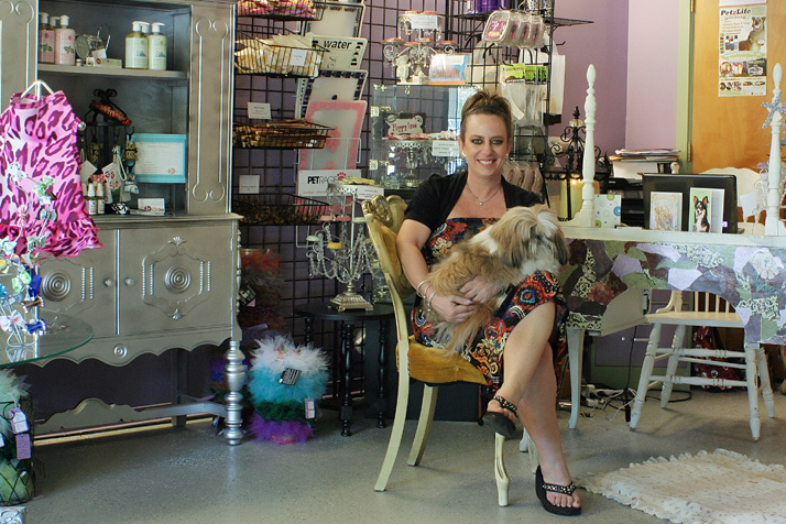 Christine Gregory opened Queen of Paws in Prairie Village in 2012. Photo via Queen of Paws website.