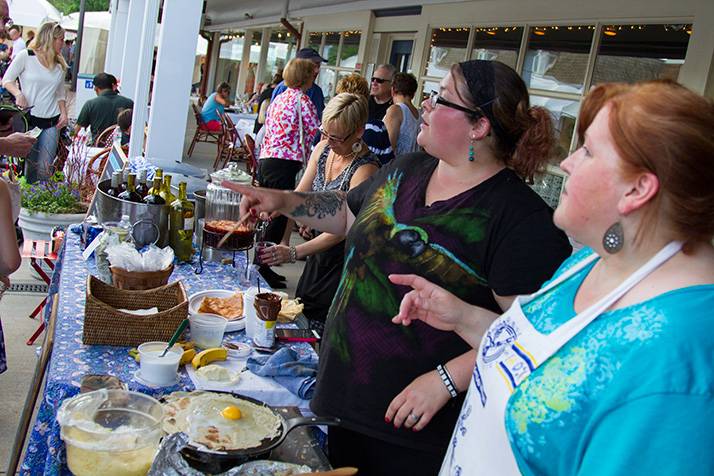 The French crepes at Cafe Provence are among the food favorites at the annual event.