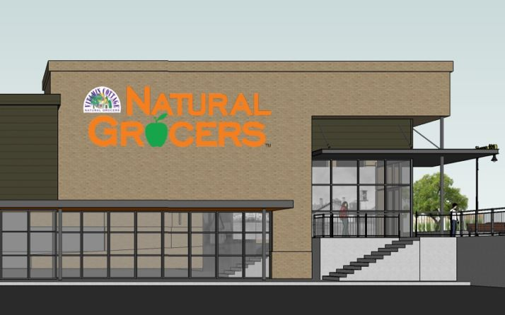 A rendering of the Natural Grocers that will be built on the site of the former Keystone Auto Group on Johnson Drive in Mission.