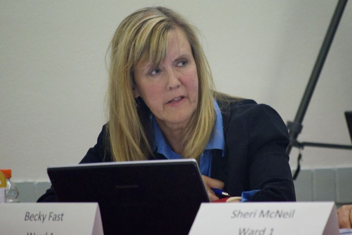 Becky Fast, who was missing from the July vote, voted in favor of the anti-discrimination ordinance Monday.