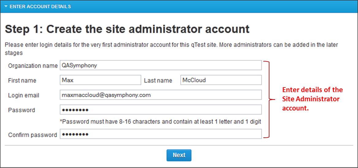 qtest-configure-qadmin-account