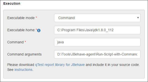 JBehave Agent - Execution - Command