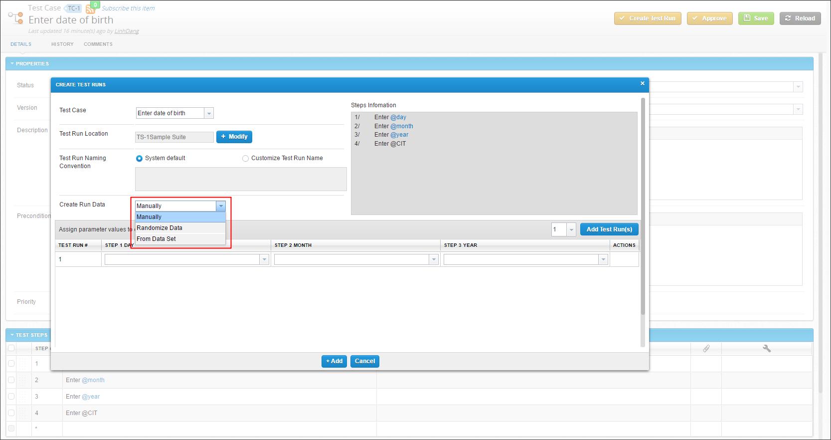 qTest-Create-Test-Runs-Assign-param-values